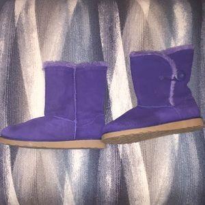 Purple Faux Fur boots